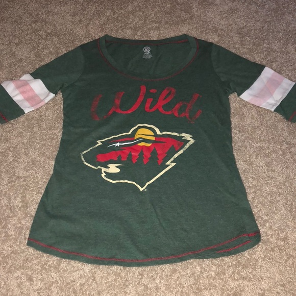 Minnesota wild green shirt womens m 4215f04962